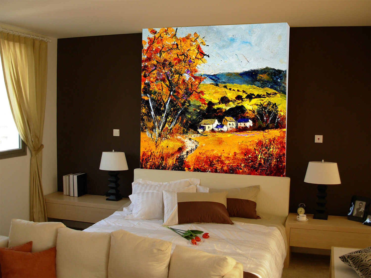 Mega 3D colorful Hill Painting 60 Wall Paper Wall Print Decal Wall AJ Wall Paper