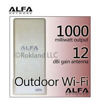 Alfa 1000mw + 12 Dbi Usb Wi-fi Kit For Boat/marine Rv Ubdo-gt8 8m Cable