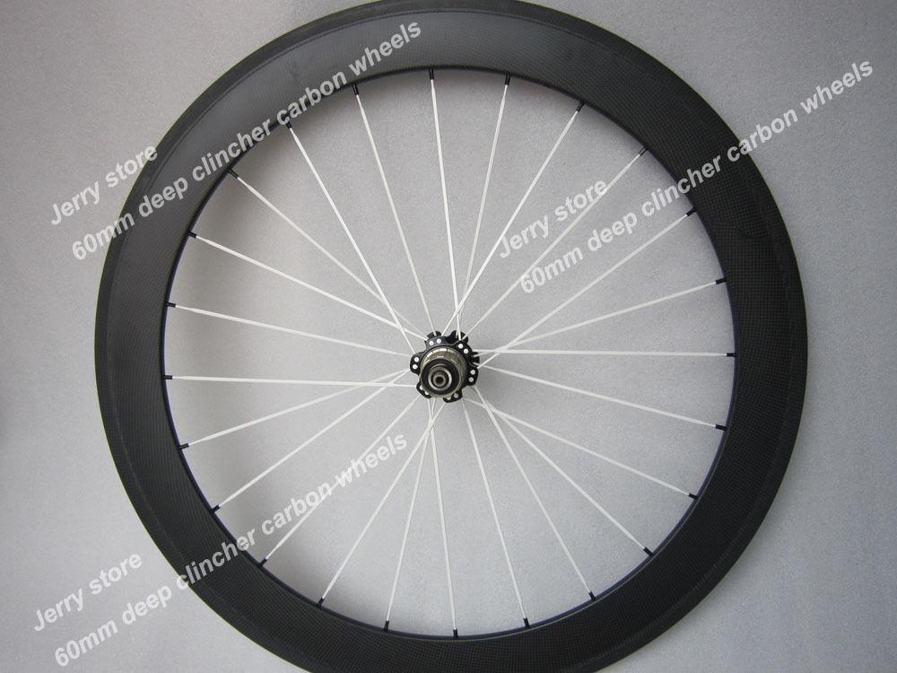 700c 60 mm de profundidad y, de fibra de carbono bicicleta de carretera Ruedas sólo rear colourful elegir