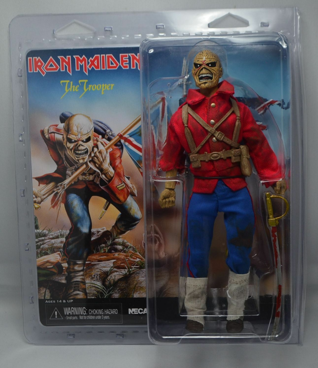 IRON MAIDEN THE TROOPER EDDIE CLOTHED 8  ACTION FIGURE RETRO DOLL NECA 2014