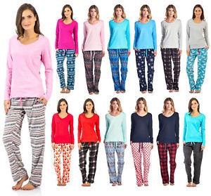 Ashford   Brooks Women s Sleepwear pjs Cotton Crew Top - Micro ... cc63ff6c9