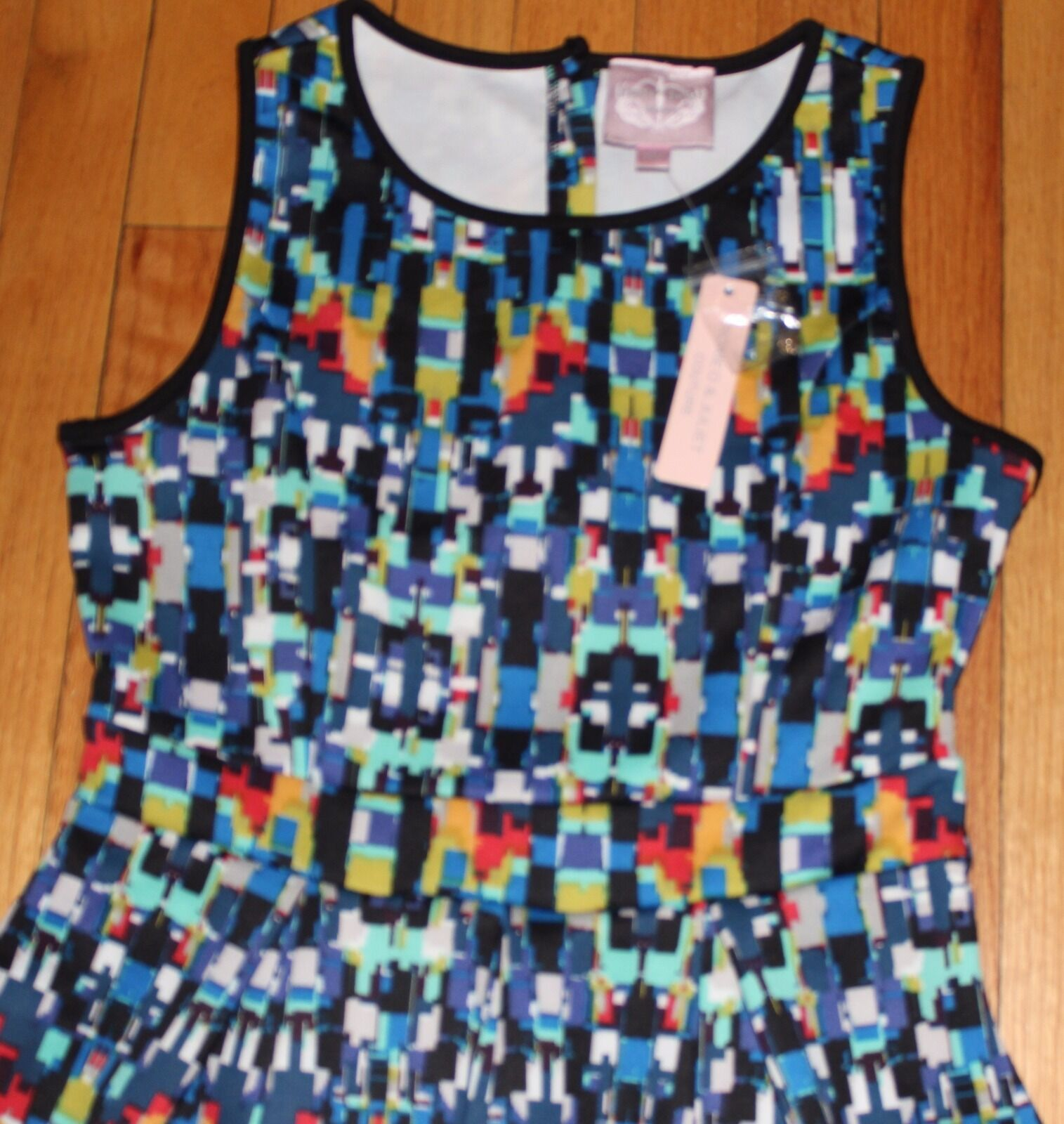 175 175 175 ROMEO & JULIET COUTURE MULTIcolorD PLEATED CASUAL DRESS SZ MEDIUM 46b259