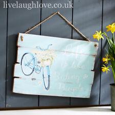 Tin Sign Life Is Like Riding A Bike 30x40cm