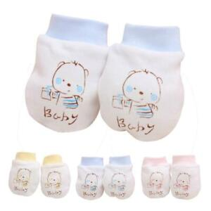 1 Pairs Cute Cartoon Baby Infant Boys Girls Anti Scratch Mittens Soft Gloves