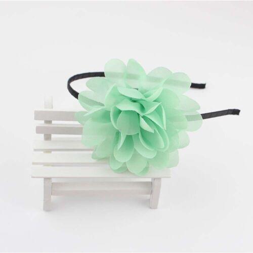 uk 1PC Chiffon Flowers Hair Bands For Headband Girls Big Flower