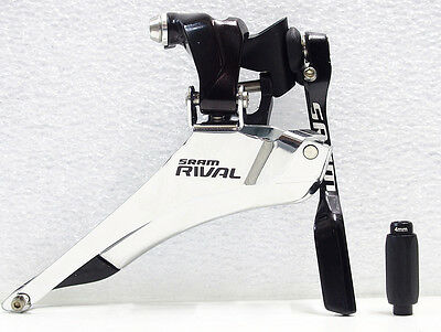 ALL NEW SRAM Rival 22 Braze On Yaw Front Derailleur with Chainspotter Road Bike