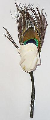 Bianco Fiore Multicolore Piume Matrimonio Sposo Accessori-mostra Il Titolo Originale