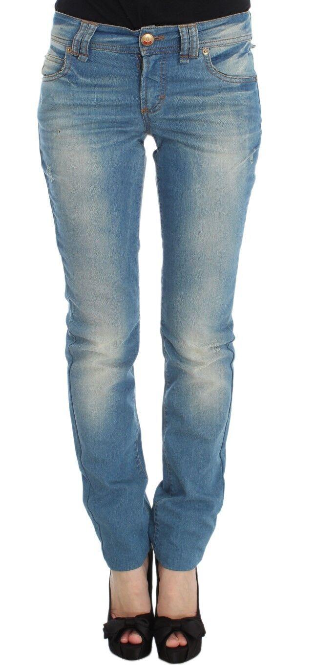 Nuevo   480 Pantalones Jeans azul lavado JOHN GALLIANO Mezcla de Algodón Slim Fit Denim S. W30  precios al por mayor