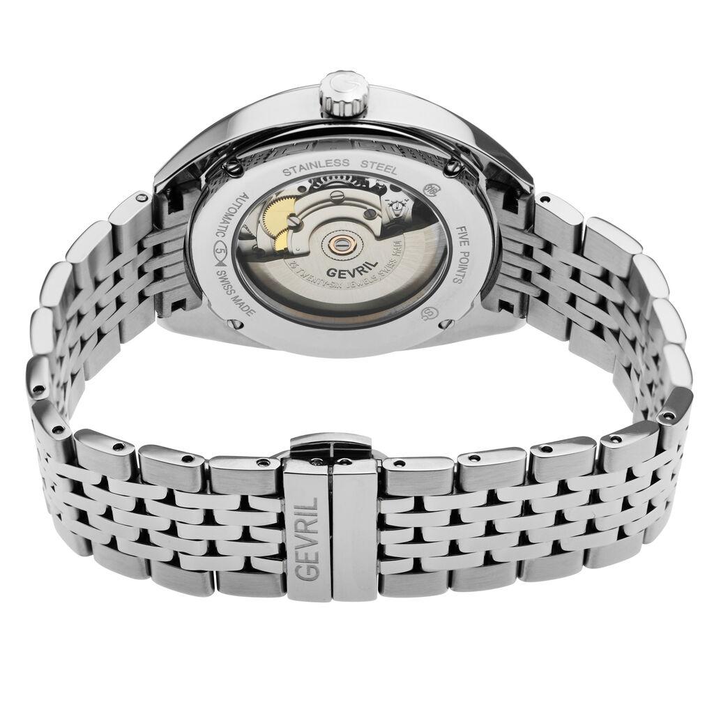 Gevril Men's 48701 Five Points Swiss Automatic Blue Dial Steel Date Wristwatch | Ebay
