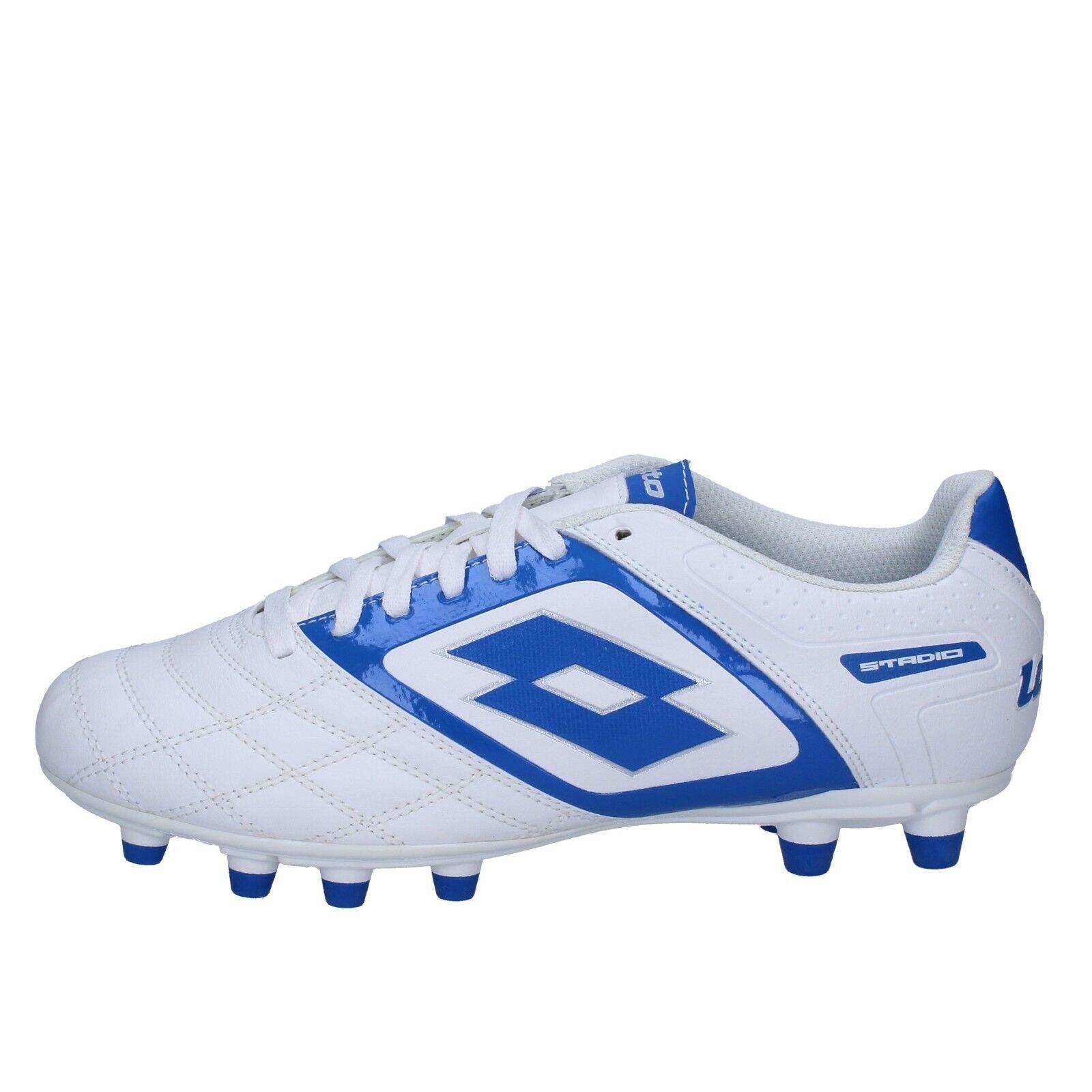 Men's Shoes LOTTO 46 Eu Sneakers Blue White Leather BT585-46