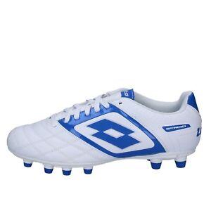 scarpe-uomo-LOTTO-42-1-2-EU-sneakers-blu-bianco-pelle-BT585-42-5