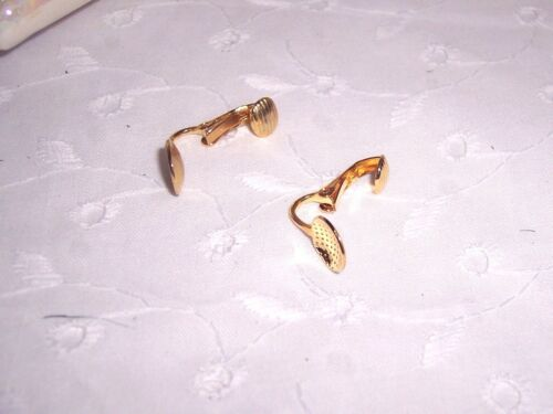 """EARRINGS CLIPS 12 GOLD PLATED STEEL ART-CRAFTS JEWELRY= 6 PAIRS OF CLIPS=3//4/"""""""