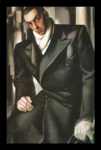 FRAMED Portrait Of A Man By Tamara De Lempicka 25x19 GELCOATED Art Print WIDE Bk