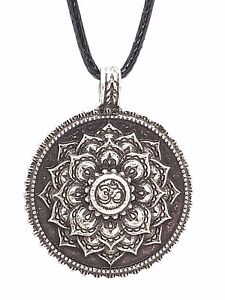 MANDALA LOTUS FLOWER Om Aum Pewter Namaste Necklace Buddhist Pendant - Nuneaton Warwickshire, United Kingdom - MANDALA LOTUS FLOWER Om Aum Pewter Namaste Necklace Buddhist Pendant - Nuneaton Warwickshire, United Kingdom