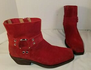 06cbb76b6 Image is loading NEW-JEFFREY-CAMPBELL-FREE-PEOPLE-RED-SUEDE-FAIRFAX-