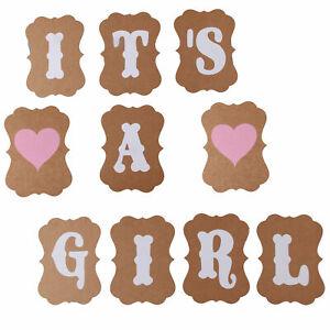 La-sua-una-ragazza-cuore-Bunting-Party-Banner-Baby-Shower-Feste-Decorazione-Ghirlanda-UK