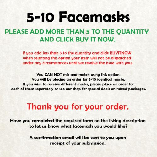 Paul McCartney Beatles Celebrity Card Face Mask Fast Dispatch