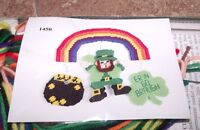 Design Works Saint Patrick's Rainbow Wall Hanging Plastic Canvas Kit