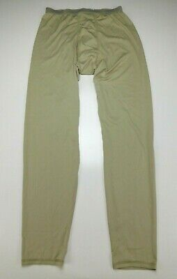 Set  POLARTEC SILKWEIGHT BASE LAYER DRAWERS shirt PANTS Size large regula tan