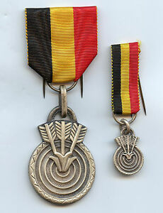 Belgian Lot Sport Shooting Archery Medals Nice Grade !!!!