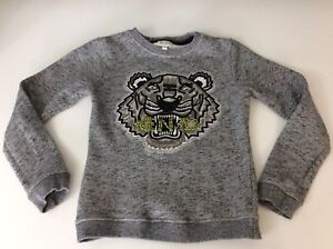414ff5179 Kenzo Girls Jumper, Size Age 10 Years, 140 Cm, Grey, Tiger Face, Vgc ...