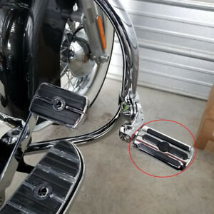 Chrome Motorcycle Engine Guard Highway Foot Pegs Rest For Harley Davidson Fatboy Ebay