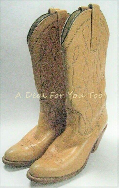 FRYE 7972 Cowgirl Western Pull On Butterscotch Yellow BOOTS USA 7.5 B Women's