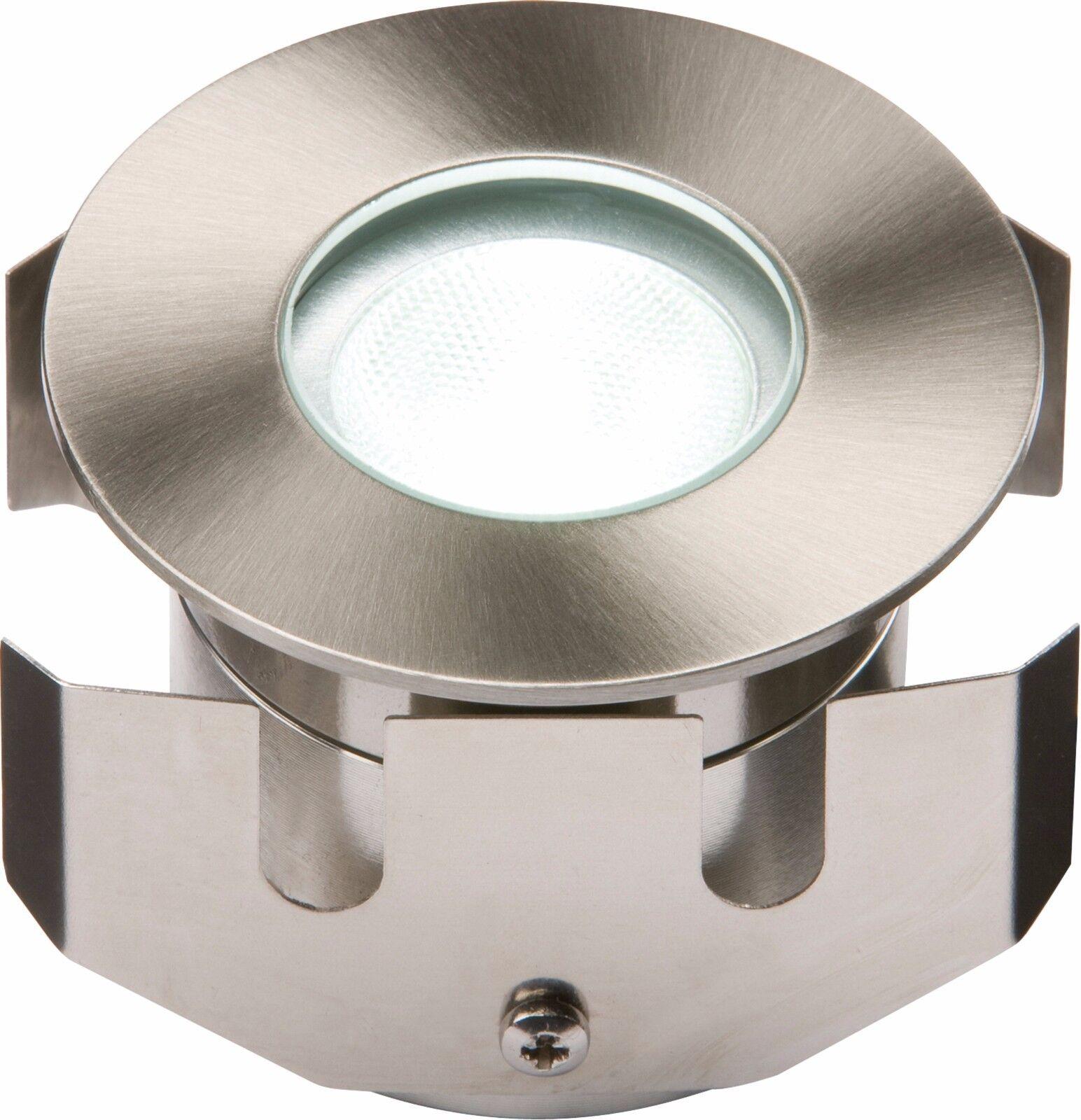 Knightsbridge 1W Bianco Bassa Tensione LED in acciaio inox rivestimento WALKOVER LUCE
