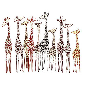 Group-Of-Giraffes-Large-Wall-Art-Print-18X24-In