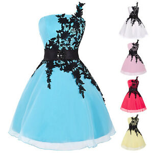 Image is loading Short-Semi-Formal-Homecoming-Party-Prom-Dress-Bridesmaid- a1d65be77