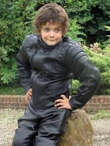 Baby-Biker-Toddler-Jim-Leather-Infant-Motorcycle-Motorbike-Jacket-Black-T