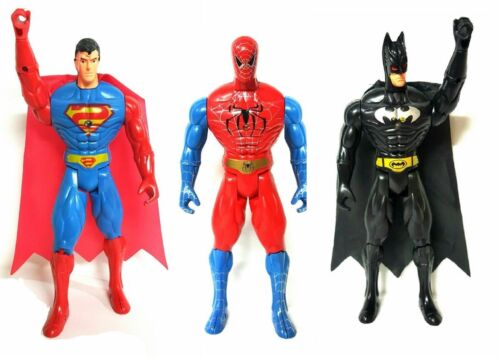 "6/"" KIDS SUPERHERO SPIDERMAN BATMAN SUPERMAN ACTION FIGURE TITAN XMAS GIFT TOY"