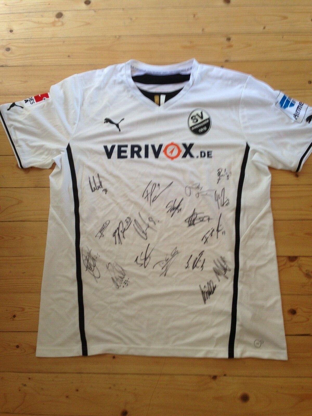 SV Sandhausen Trikot mit Unterschriften, XXL, Saison 2013 14, NEU, TOP