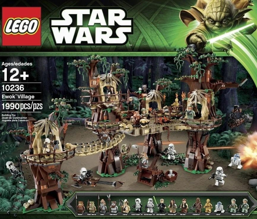 RETIrosso SET - LEGO Star Wars EWOK VILLAGE 10236 Nuovo Sealed box - RETIrosso SET
