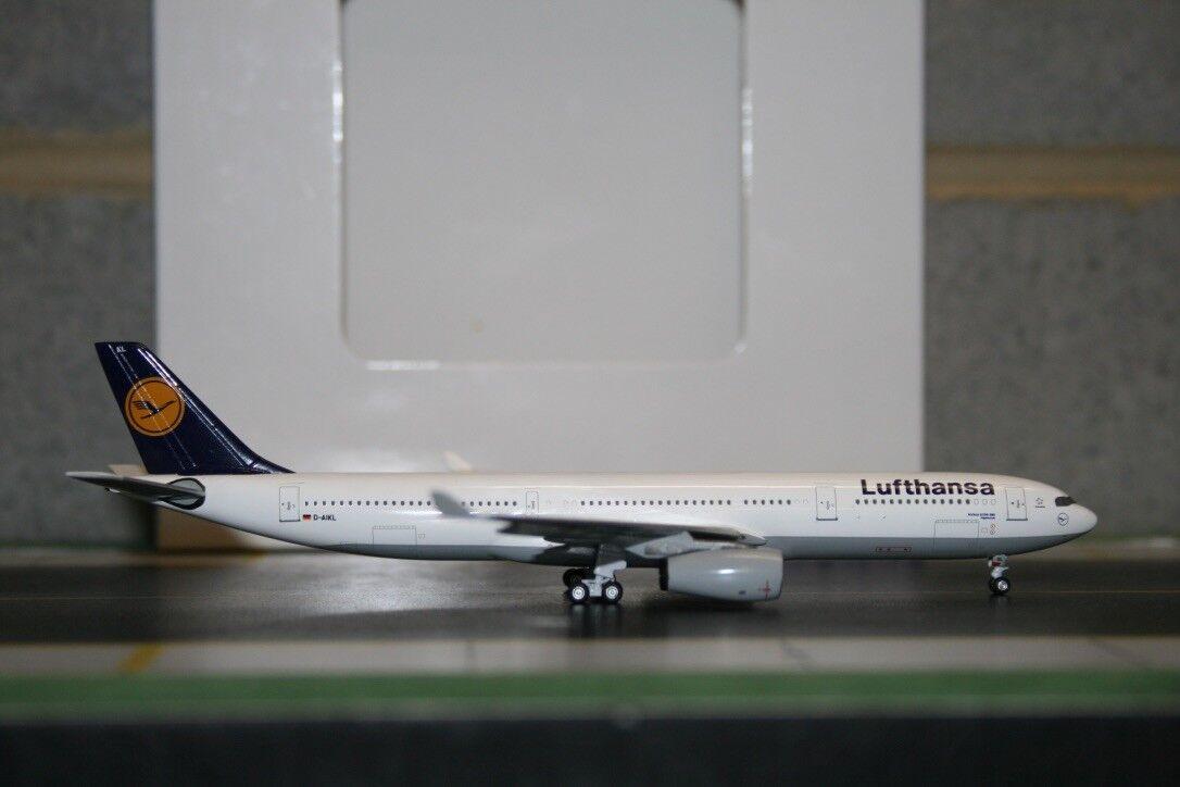 servicio considerado Aeroclassics Aeroclassics Aeroclassics 1 400 Lufthansa Airbus A330-300 D-AIKL (acdaikl) Fundición Modelo  alta calidad