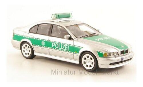 E39 Polizei Neo BMW 530i #43298 - silber//grün 2002-1:43