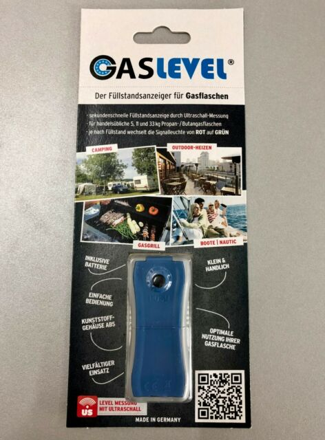 Gaslevel Füllstandsanzeiger f. Gasflaschen, Propan, Camping Gas, Caravan Gaslock