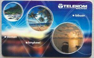 Malaysia-Used-Phone-Cards-Island-of-Travel-amp-Trade