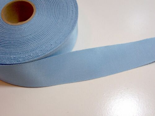 Petersham Edge Rayon Cotton Blue Grosgrain Ribbon 1 1//2 inches wide x 10 yards