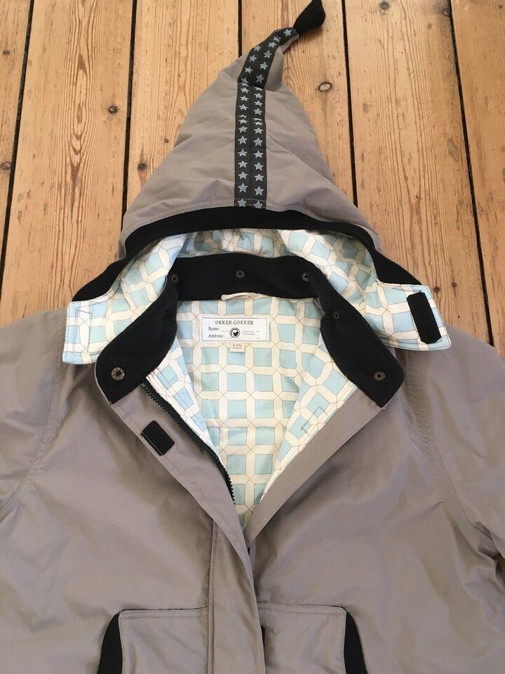 Vinterjakke, Vatteret jakke med fine detaljer, Okker