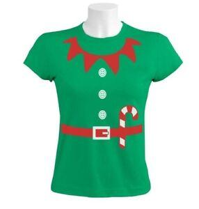 Elves-Suit-Outfit-ELF-CHRISTMAS-Women-T-Shirt-Crazy-Party-TV-Gift-Idea-Granny
