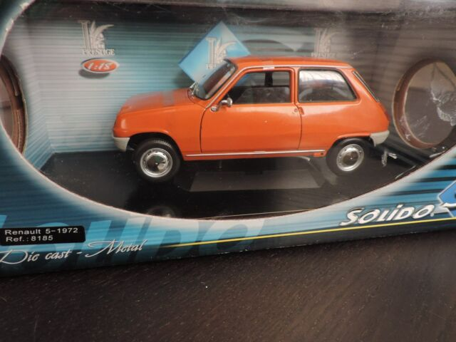 RENAULT 5 L Phase 1 1972 SOLIDO ORANGE 1/18 en boite d'origine