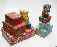 Recycled Colourful Cardboard Crafts Storage Box Kids Birthday Gift Box 6 Colours
