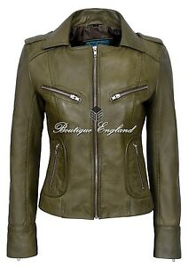 039-RIDER-039-Ladies-Olive-Green-Biker-Style-Soft-Real-Lamb-Leather-Jacket-9823