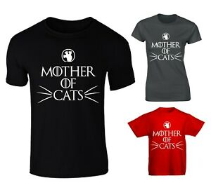 Game of Thrones Mother of Cats T-Shirt Unisex Cotton Sizes Dragons Khaleesi New