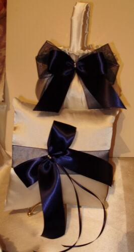 Custom  Flower Girl Basket /& Ring Pillow  Your Colors