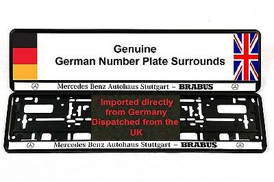 MERCEDES BRABUS Silver Number Plate Surrounds CLK CL55 SL55