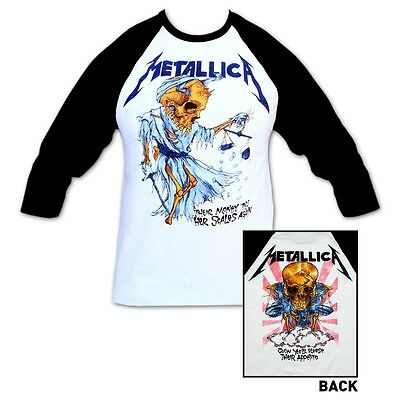 METALLICA Doris Raglan 3/4 Sleeve Jersey T-Shirt New Authentic Tee S M L XL 2X
