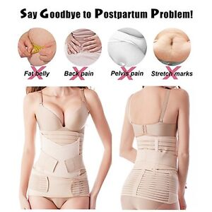 b74443ecde 3 in 1 Postpartum Support Recovery Belly Waist Pelvis Belt Postnatal ...