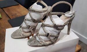 in con da tacchi donna dimensioni con con oro alti taglia 4 cinturino cinturino Sandali 0pXwW